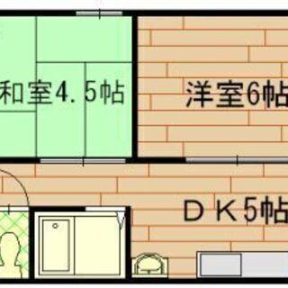 【京都中心エリア】【2DK】【2口ガスコンロ設置可】【セパ…
