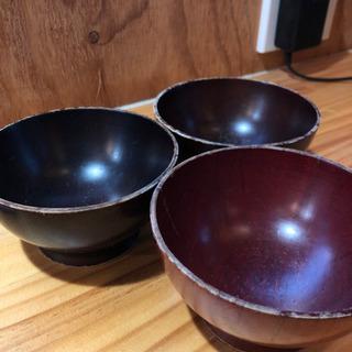 子供用みそ汁茶碗3つセット