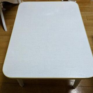 【4/15まで】折りたたみテーブル ローテーブル 机 貰っ…
