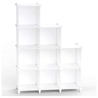 チチロバ 収納棚 組み立て式 ラック ホワイト 9ボックス