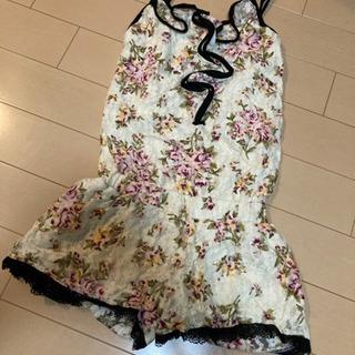 レディース サロペット 花柄
