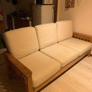 3〜3.5人がけ木ソファー カフェ風