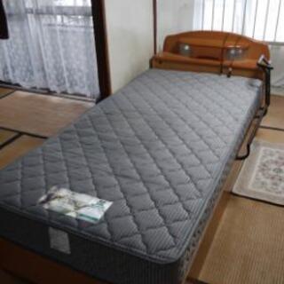 ベッド(フランスベッド製マットレス、補助取手付き)