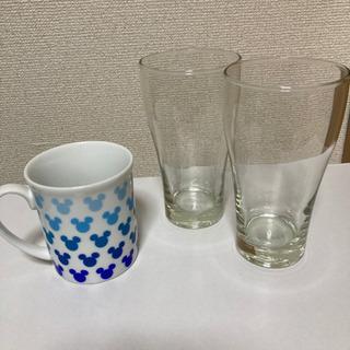 無料でお譲りします! グラスとマグカップの画像