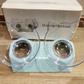 【新品】【全国発送】犬猫兼用 フードボウル エサ皿 エサ入れ 猫耳 かわいい ブルー - 売ります・あげます