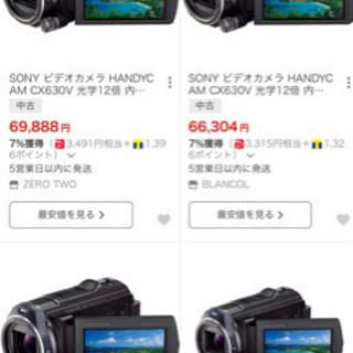 SONY ビデオカメラ HDR-CX630V 中古 ハンディカム − 愛知県