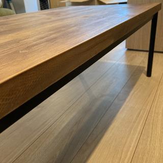 一枚板のお洒落なセンターテーブル(ローテーブル)