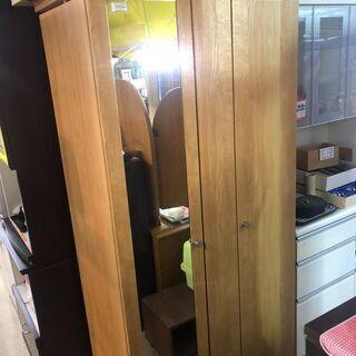 【中古】大阪引取歓迎 タンス 衣類収納 ブラウン 姿見付き ¥1...