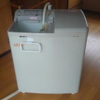 根強いファンの多い 日立二槽式全自動電気洗濯機 【青空】 PA-...