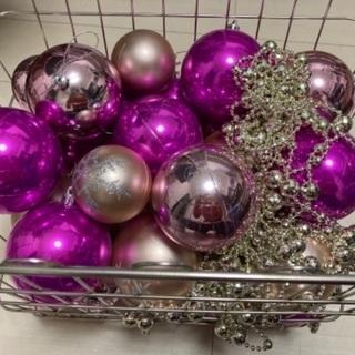 クリスマスツリー●飾り玉ピンク●装飾玉