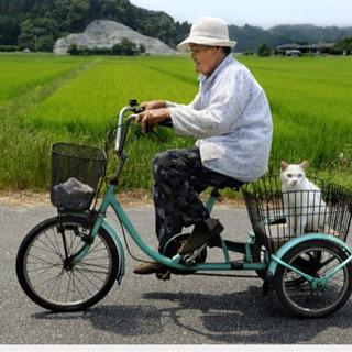 おばあちゃん用の三輪自転車