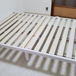 新品 ダブルすのこベッド