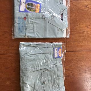 未使用の春夏用Mサイズ作業服上下と作業服下売ります