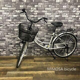動作良好 良品 MIMOSA ミモサ 自転車 24インチ シルバ...