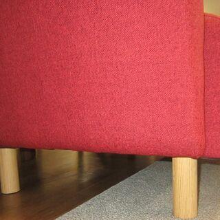 R220 NITORI 可愛2Pソファ、二人掛けラブソファ、幅130cm - 売ります・あげます