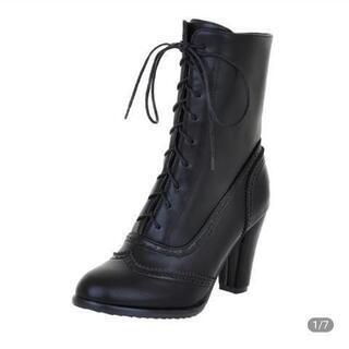 新品 黒のブーツ 38