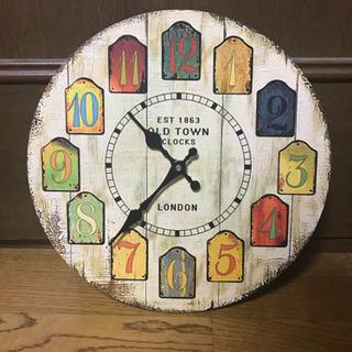 レトロ調プリントアナログ壁掛け時計