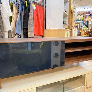 テレビ台 横幅120cm ダークブラウン 木目調×ブラック…