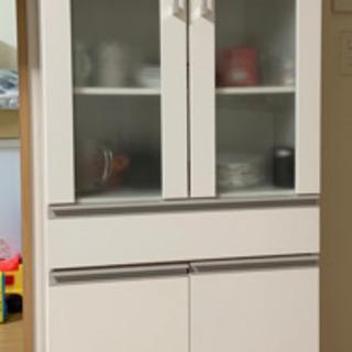【ネット決済】食器棚 ホワイト