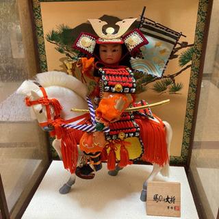 端午の節句 馬のり大将 日本人形