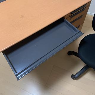 オフィスデスク パソコンデスク テレワーク 机 椅子 セット 鍵付き - 柏市