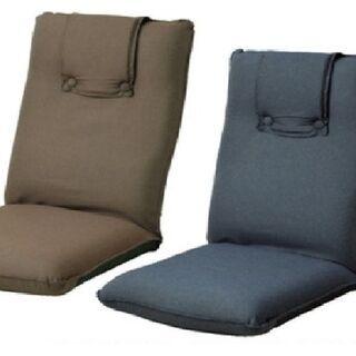 【新品未使用未開封】低反発デニム風座椅子(ブラウン)