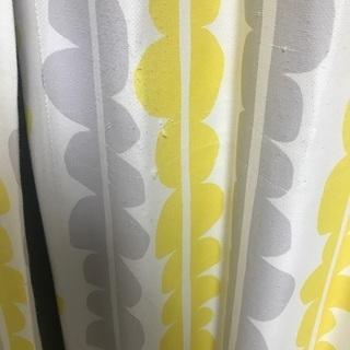 2枚組 245cm 100cm 北欧柄 カーテン 黄色 遮光2級 厚地カーテン − 山口県