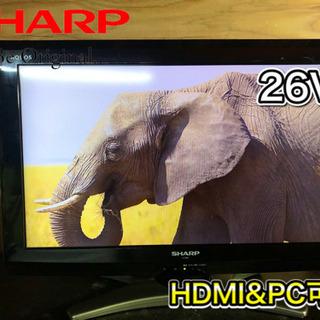 【美品&激安‼️】SHARP AQUOS 液晶テレビ26型…