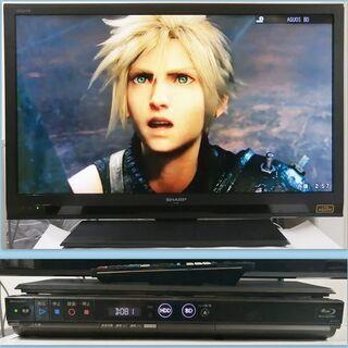2013年シャープ32インチTVと2012年HDDブルーレイレコーダ