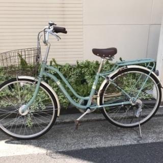 自転車 シマノ製ギア付き 自動点灯