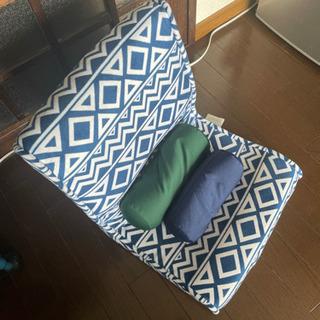 折りたたみ低反発素材座椅子(ビーズクッション付)
