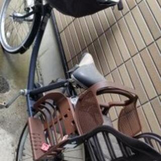 【ネット決済】三人乗り対応ママチャリ 前後チャイルドシート
