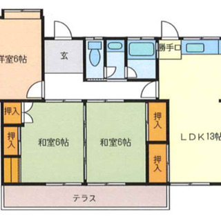 広い庭付き!一軒家 3LDK ペット何匹でもOK! ¥39…