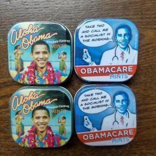 オバマ元大統領のミント缶 4つ