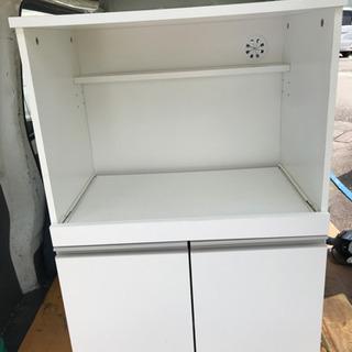 レンジ台 木製 炊飯器 電子レンジ 収納棚 無料 0円 あ…