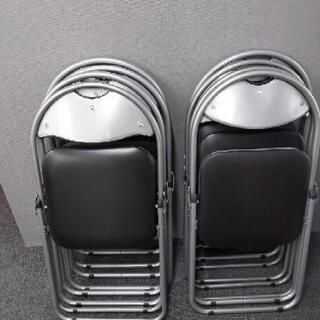 会議・ミーティング パイプ椅子 8脚