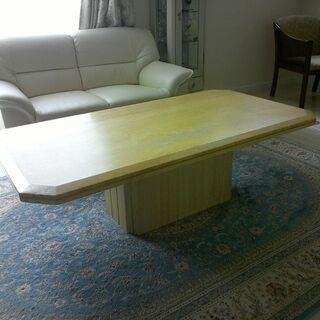 センターテーブル、大理石調、人工大理石