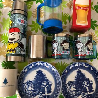 【ネット決済】箱まとめて ナルミ食器、グラス、スヌーピー水筒など