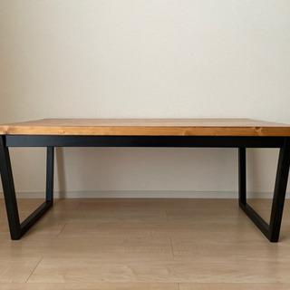 パイン無垢テーブル 高さ40cm ヴィンテージ風