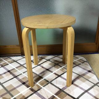 【ネット決済】IKEA 丸椅子 木製