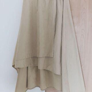 【ネット決済・配送可】不規則裾 スカート