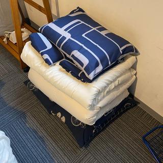 シングル掛け布団+カバー+枕セット