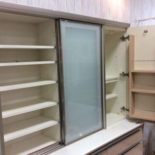 pamouna 食器棚 ナチュラル×ホワイト【トレファク南柏店】 - 柏市