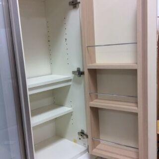 pamouna 食器棚 ナチュラル×ホワイト【トレファク南柏店】 - 家具