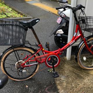 【ネット決済】🔴お買い得品❣️赤い自転車!20インチ現金手渡し