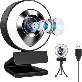【新品・未使用】LEDライト付き FullHD WEBカメラ