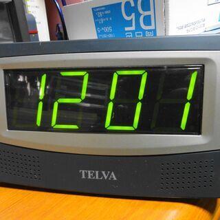 AC電源動作・ラジオ付きデジタル時計【中古品】