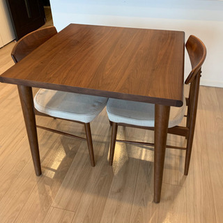 【大塚家具】ダイニングテーブル&チェア2脚セット