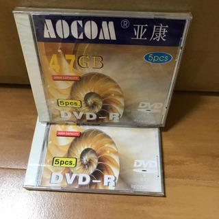 DVD -R 4.7GB 5pcs 2枚 未開封