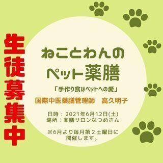 ねことわんのペット薬膳講座『ペットの食事は飼い主の愛』